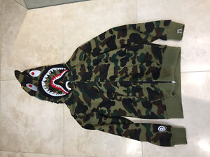 Bathing Ape camo shark hoodie. Polo, Supreme, Bape, Jordan.