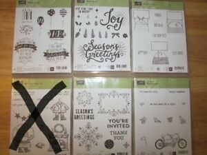 Stampin' Up Photopolymer stamp sets - most brand new/unused