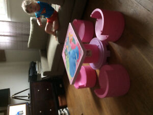 Princess tower table and chairs