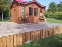 waterfront building lot with cabin and gazebo