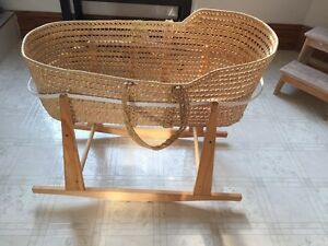 Bassinet stand and Moses basket
