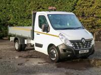 """2016 (66) RENAULT MASTER CCML35 RWD 10'9"""" ALLOY SIDED DROPSIDE TIPPER PICK UP"""