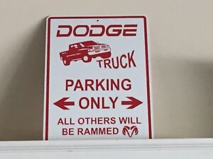 Dodge parking sign
