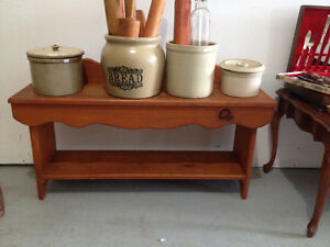 Etagere / Banc Champetre ** Small  Country Style Bench / Shelf