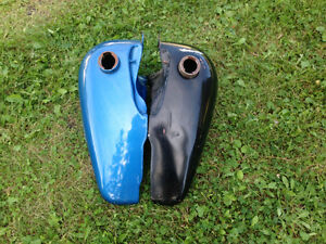 Harley-Davidson flat side fat bob gas tanks