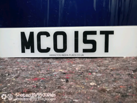 Personal number plate for MCOIST..