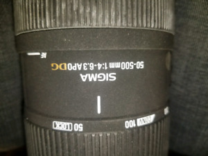 Sigma 50-500mm f4-6.3 for Pentax