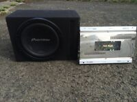 Pioneer bass box and amplifier