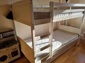 Kids bunk beds & 2 mattresses £100