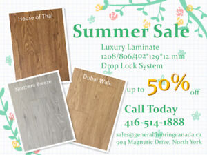 Luxury 12mm Laminate on Summer Sale! Now Starts From $1.39/sf