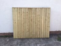 🔨🌟The Finest Quality Vertical Board Straight Top Tanalised Wooden Fence Panels