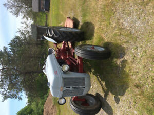1950 Ford Tractor and Bush Cutter