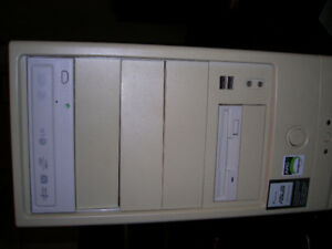 Old AMD Sempron tower with RAM, CD ROM, Floppy Drive