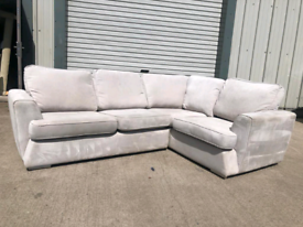 Dfs grey fabric Corner sofa couch suite 🚚🚚