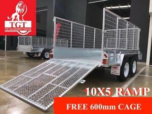 10x5 RAMP TANDEM TRAILER HEAVY DUTY GALVANISED 2000KG ATM