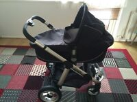 iCandy' Apple' travel system, rain cover and changing back