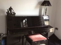 Fabulous Black Gloss Steinbach piano , excellent condition , one female owner with matching stool