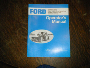 Ford 715 3 point Hitch snowblower  1000 Tractor Operators Manual