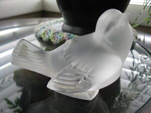 Signed Lalique France  Sparrow