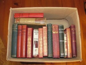 Collection of old classical, poems and mystery books.