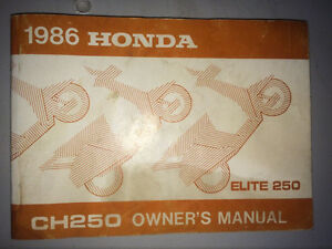 1986 Honda Elite 250 Owners Manual CH250