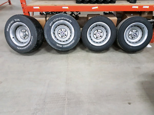 4 15 x 8 GM Rally wheels and tires