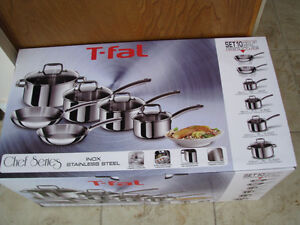 T-FAL CHEF SERIES INOX STAINLESS STEEL POTS