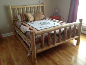 log beds/furniture