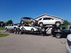 Kaufman 4 car hauler with truck