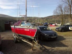 Sailing boat Mg Club 19ft (exchange option with caravan)