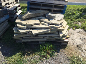 Tons of interlock pavers and flagstone. Make a respectable offer