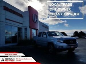 2014 Honda Ridgeline Sport  ONE OWNER OFF LEASE LOW KM'S