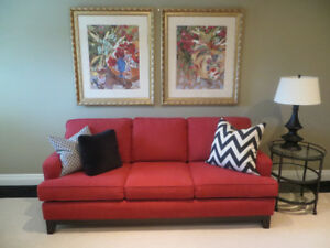 Beautiful Stoney Creek Furniture Red Couch