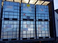 1000 litre galvanised IBC water/waste storage container tank