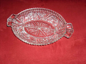 Glass candy / pickle dish