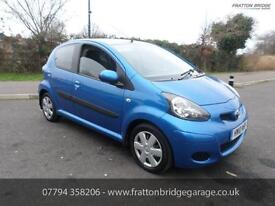 TOYOTA AYGO BLUE VVT-I F.S.H Bluetooth AirCon Great Car, Blue, Manual, Petrol, 2