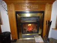Manteau de cheminée en chêne