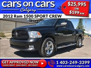 2012 Ram 1500 DODGE SPORT CREW HEMI w/Leather, Chrome Rims $199B