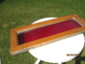 Antique Red Glass Window