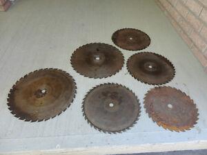 """Selection of Commercial Carbide Tip Circular Saw Blades 17""""-15"""""""
