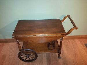 Older Cherry Tea Trolley / Beverage cart