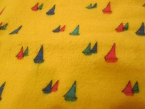 Yellow Flannelette with Print