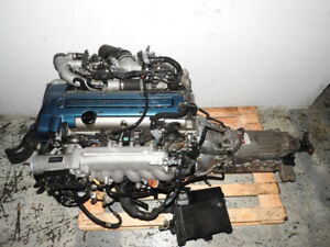 JDM Toyota Aristo Twin Turbo VVTi Front Sump 2JZ GTE Engine Moto