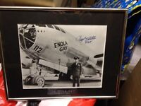 Signed Enola gay photo and frame