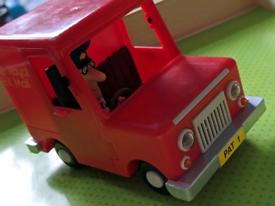 Postman pan figure and van