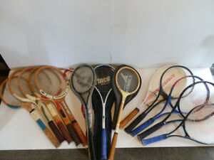 Tennis and Squash Racquet Collection