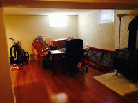 Basement suite; all utilities included; available July 1