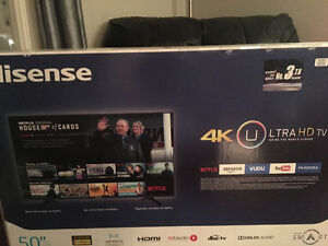HISENSE ULTRA HD 4K tv (brand new)