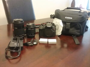 Canon Rebel T5i with Extra lens + extras
