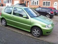 Very cheap car VW Polo 1.4 TDI 75hp. Ideal first car cheap insure tax and diesel nice Green color
